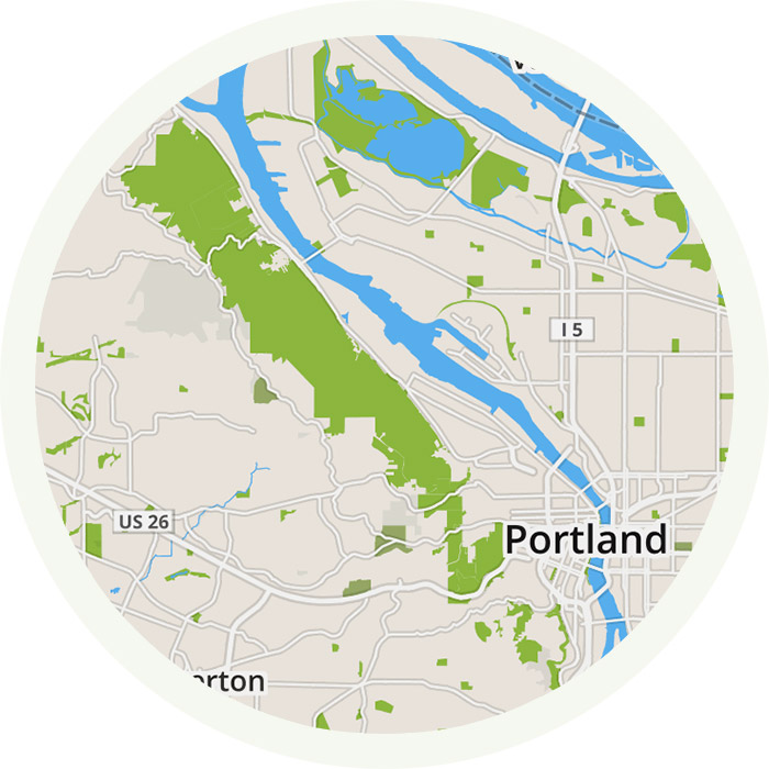 Forest Park IPhone App Offline Map Trail Guide For Forest Park - Portland on us map